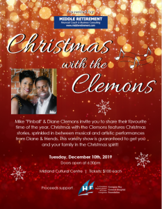 Christmas with the Clemons @ Midland Cultural Centre