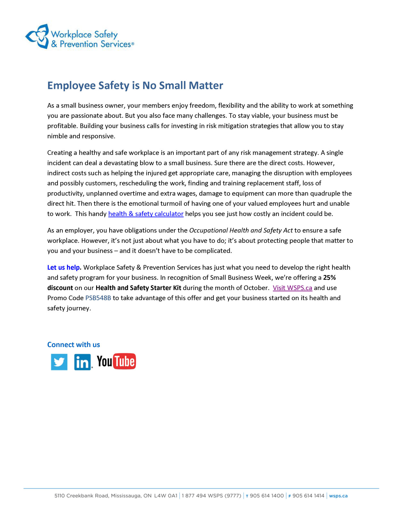 Employee Safety is no small matter_CoC