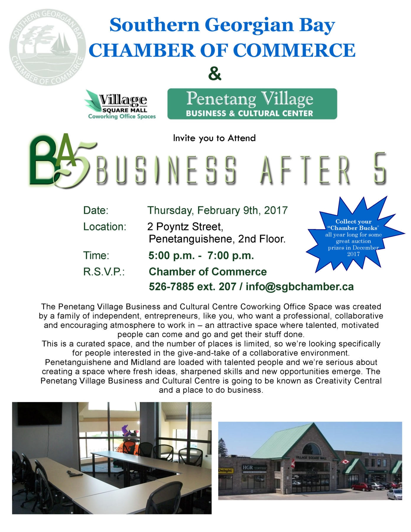 Business After 5 @ Penetang Village Business and Cultural Center  | Penetanguishene | Ontario | Canada