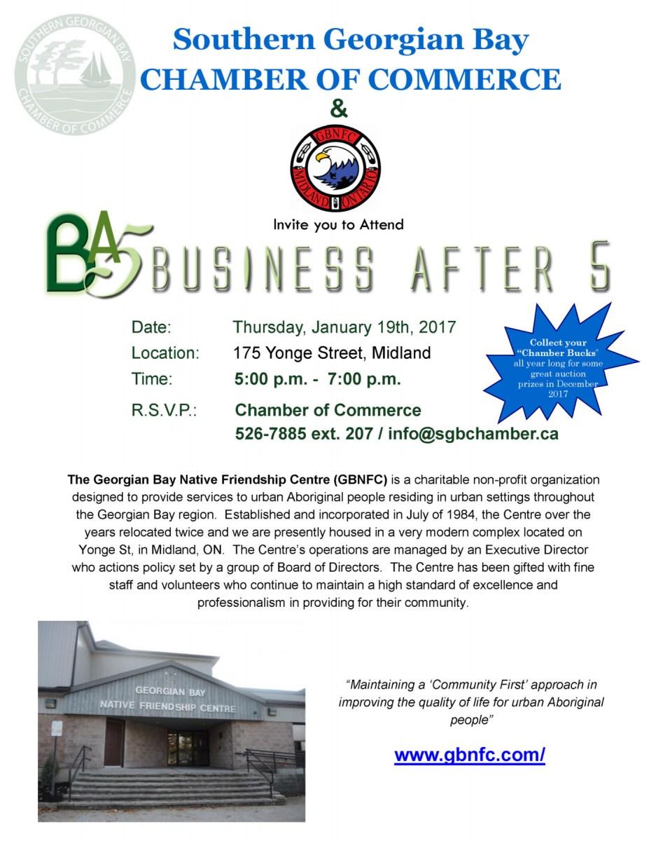 Business After 5 @ Georgian Bay Native Friendship Centre  | Midland | Ontario | Canada