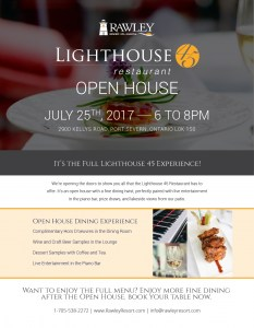 Lighthouse 45 Restaurant Open House @ Rawley Resort, Spa & Marina  | Ontario | Canada