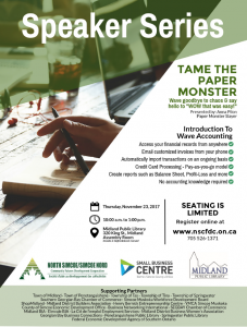 Speaker Series: Tame the Paper Monster @ Midland Public Library Assembly Room  | Midland | Ontario | Canada