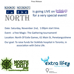 FUNdraising day for Children's Miracle Network! @ North of Exile Games