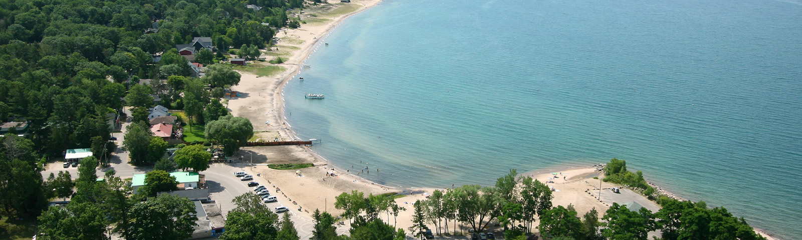 Tiny Balm Beach Arial View