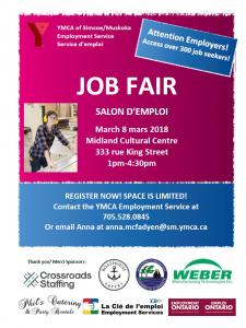YMCA Job Fair @ Midland Cultural Centre | Midland | Ontario | Canada