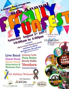 A Helping Hand Always Inc. - 8th Annual Family FunFest @ Alpha Camp & Retreat Grounds | Barrie | Ontario | Canada